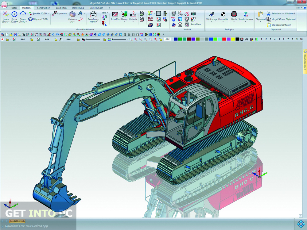 Megatech megacad 3d 2014 32 64 bit free download for Software cad 3d