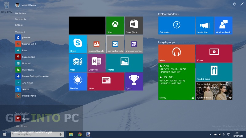 Windows 10 Build 10061 ISO 32 64 Bit Direct Link Download