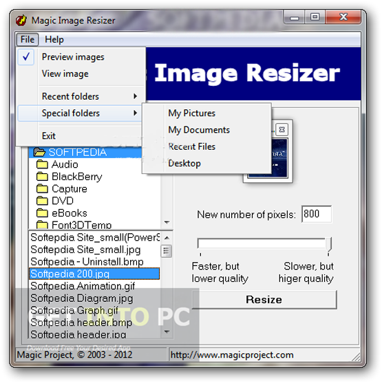 Magic Image Resizer 1.02 Portable Offline Installer Download