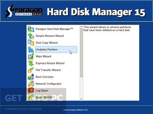 paragon partition manager 15 boot cd