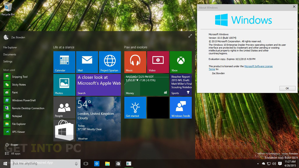 Windows 10 Build 10074 ISO 32 64 Bit Download For Free