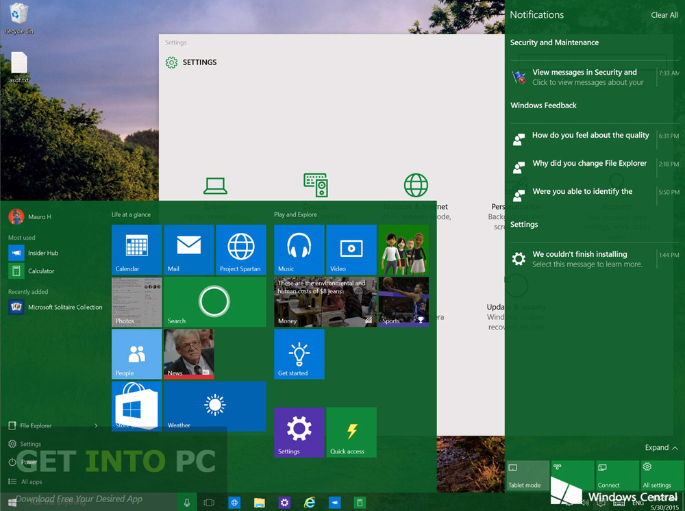 Windows 10 Build 10130 ISO 32 64 Bit Download For Free