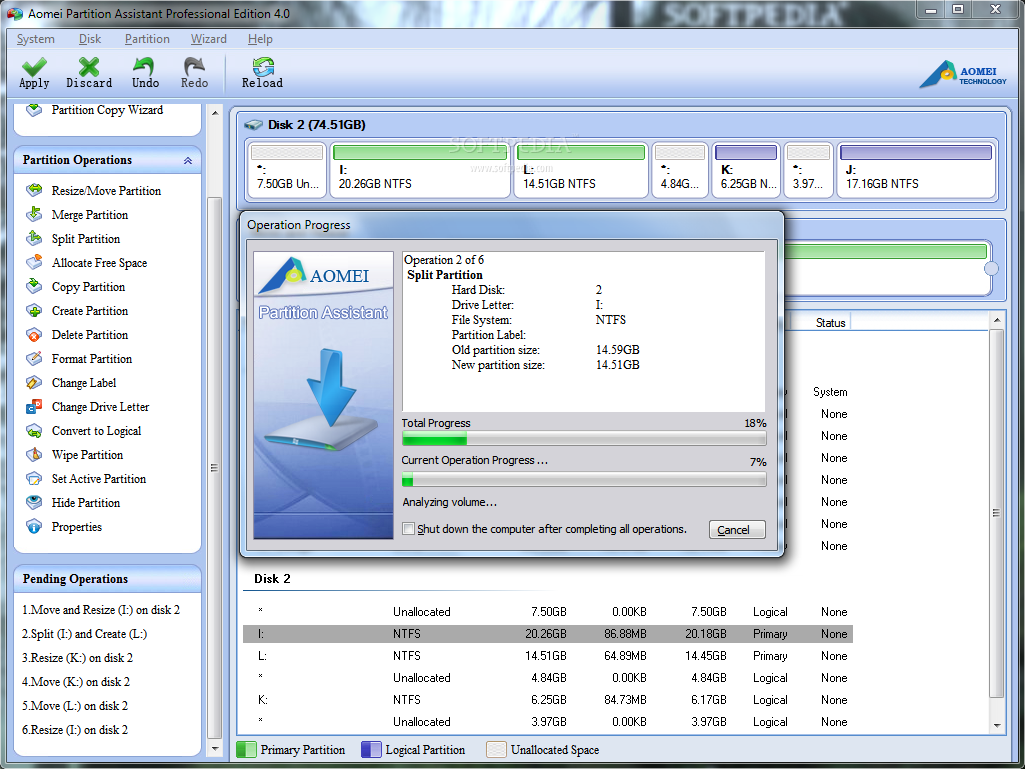 AOMEI Partition Assistant Server Edition 6 Offline Installer Download