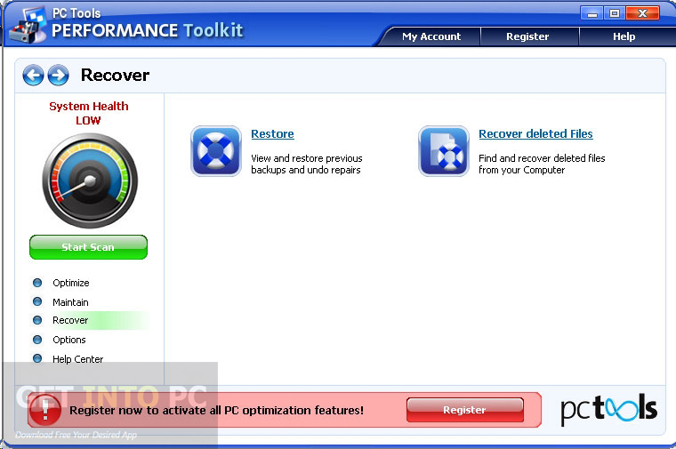 Download PC Tools Performance Toolkit Setup exe