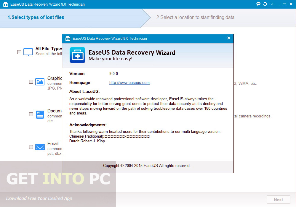 download easeus data recovery wizard free