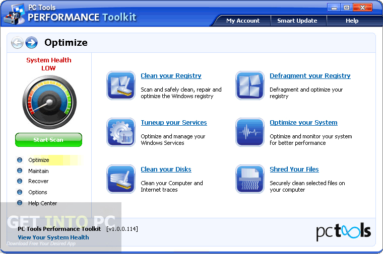 PC Tools Performance Toolkit Download For Free