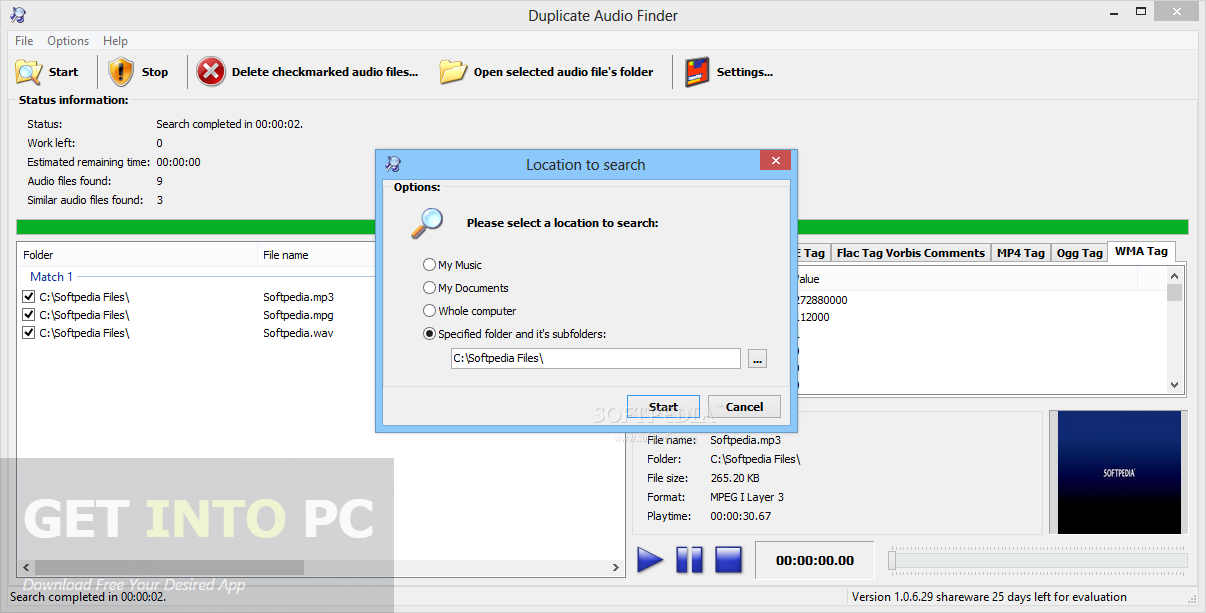 3delite Duplicate Audio Finder Direct Link Download