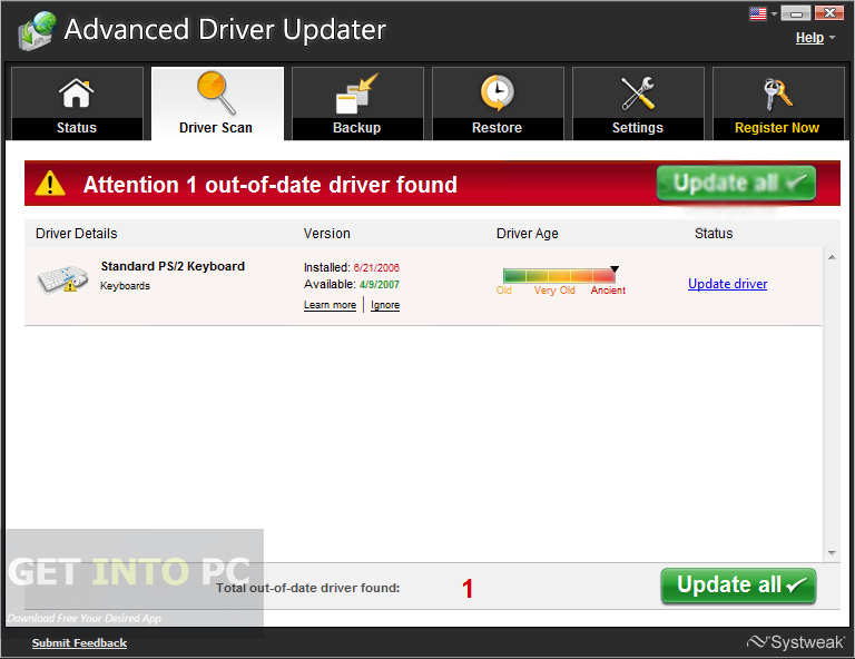 Advanced Driver Updater 2.7 Latest Version Download