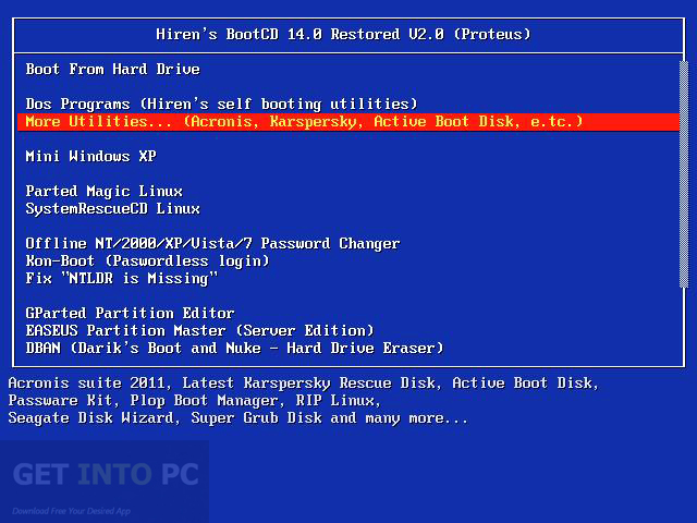 Hirens Boot DVD 15.2 Restored Edition Offline Installer Download