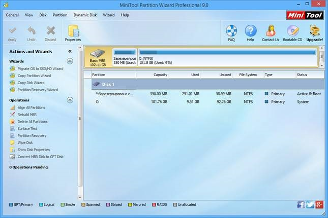 minitool partition wizard 9.1 iso