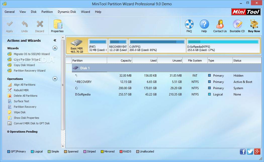 MiniTool Partition Wizard Professional 9 Latest Version Download