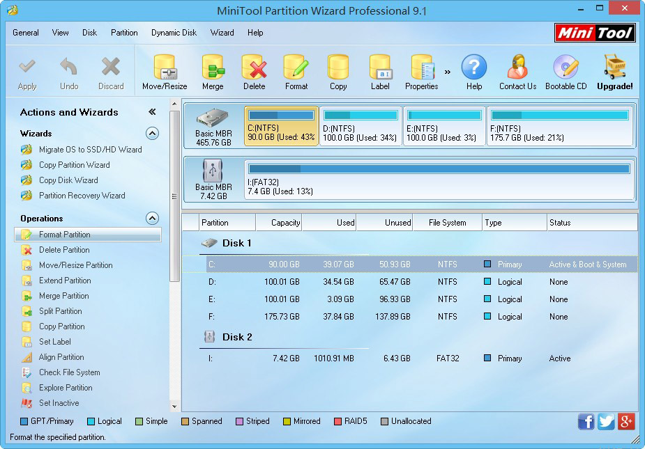 minitool partition wizard professional edition portable 8.1