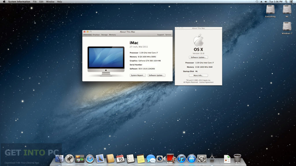 Niresh Mac OSX Mountain Lion 10.8.5 Download For Free