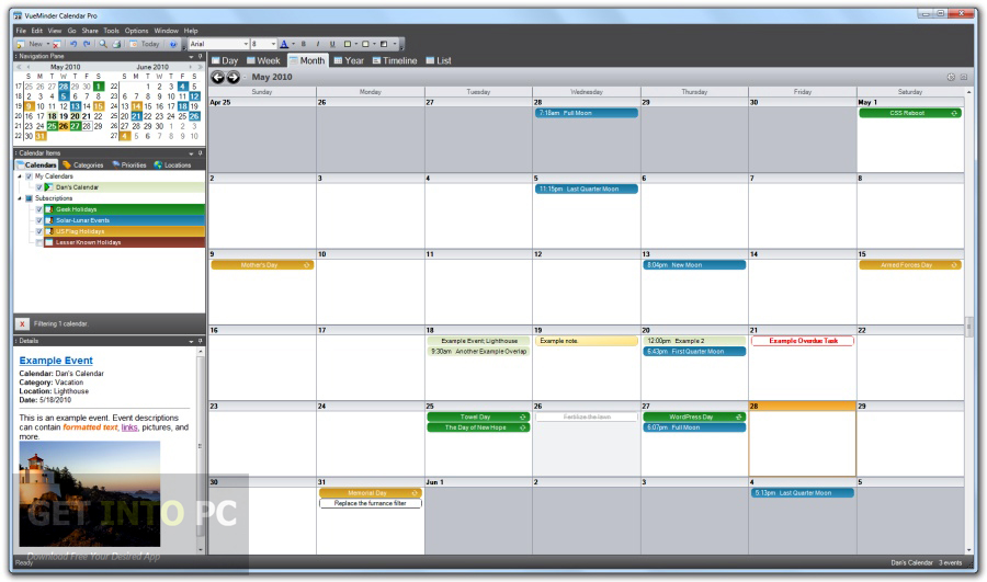 VueMinder Calendar Pro Download For Free