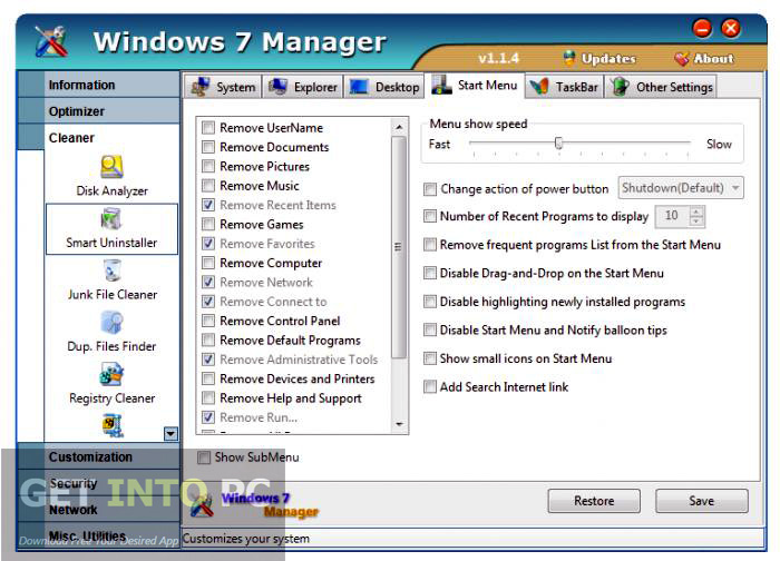 Yamicsoft Windows 7 Manager Latest Version Download