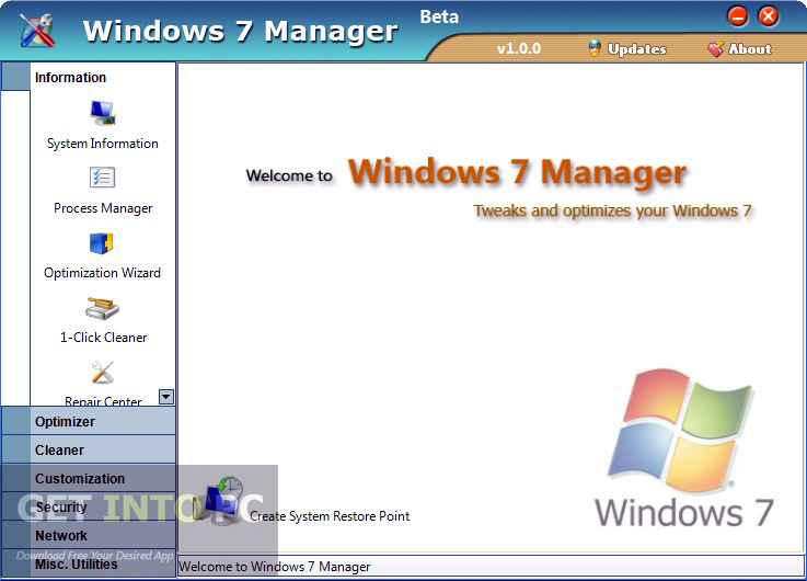 Yamicsoft Windows 7 Manager Offline Installer Download