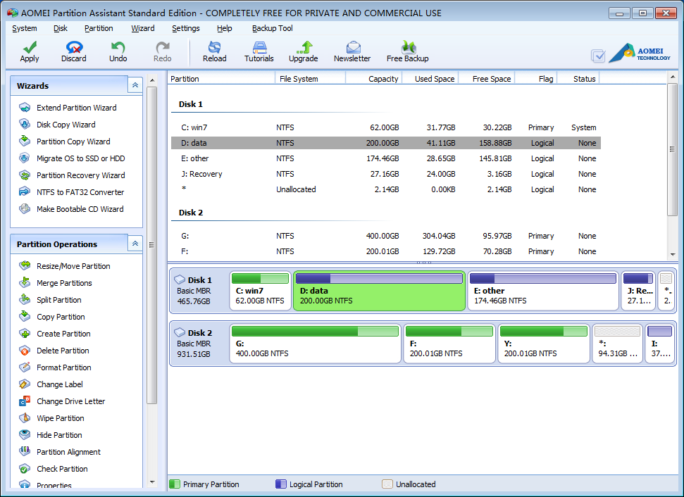AOMEI Partition Assistant Pro Edition Latest Version Download