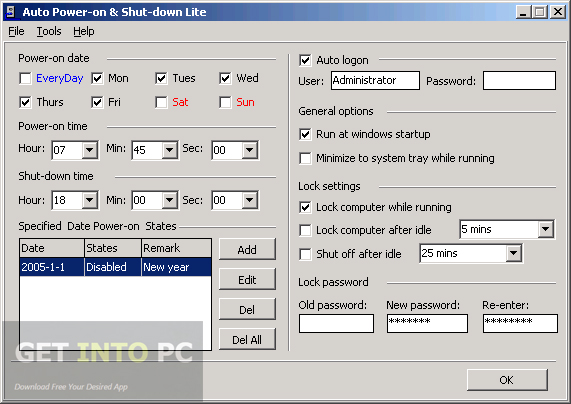 Auto Power On and Shut Down Direct Link Download