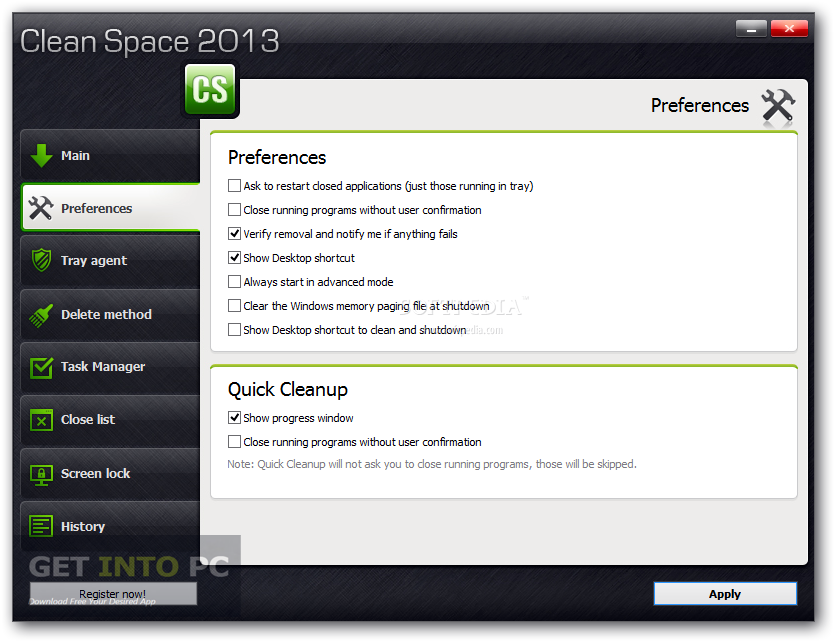 Clean Space 2015 Offline Installer Download