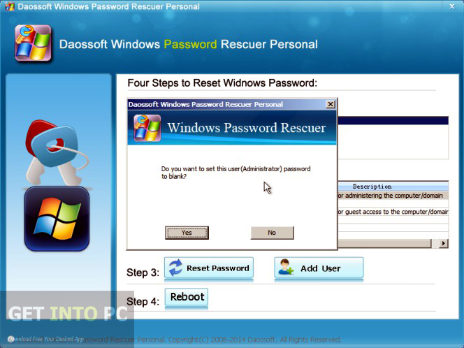 Daosoft Windows Password Rescuer Personal Offline Installer Download