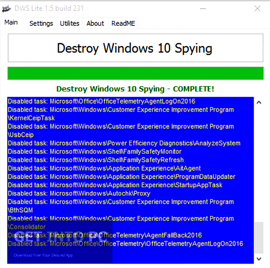 Destroy Windows 10 Spying Portable Latest Version Download