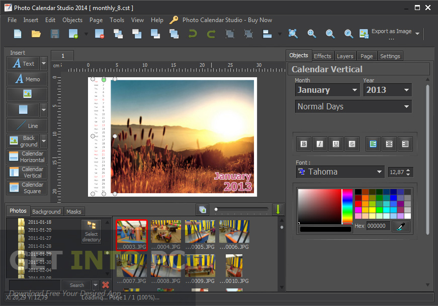 Mojosoft Photo Calendar Studio 2016 Direct Link Download