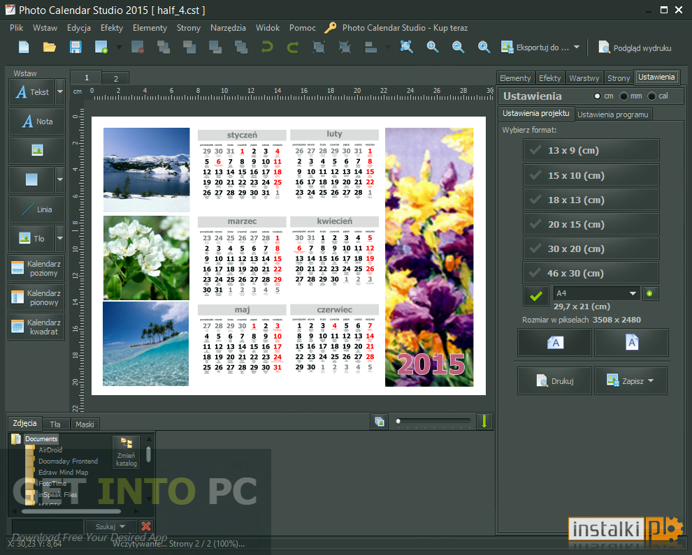 Mojosoft Photo Calendar Studio 2016 Download For Free