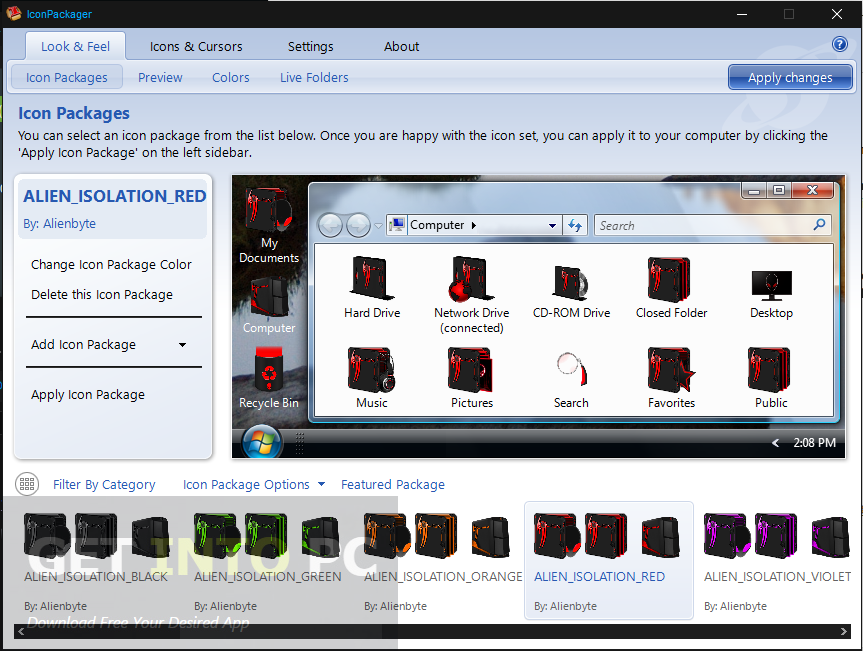 Stardock IconPackager with Alien Isolation Icons Offline Installer Download