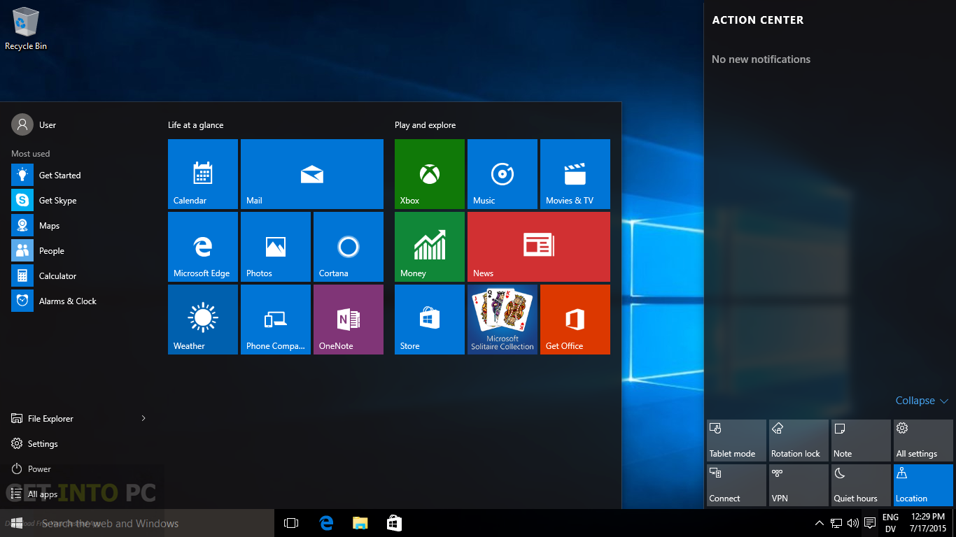 Windows 10 Enterprise Build 10547 32 64 Bit ISO Direct Link Download