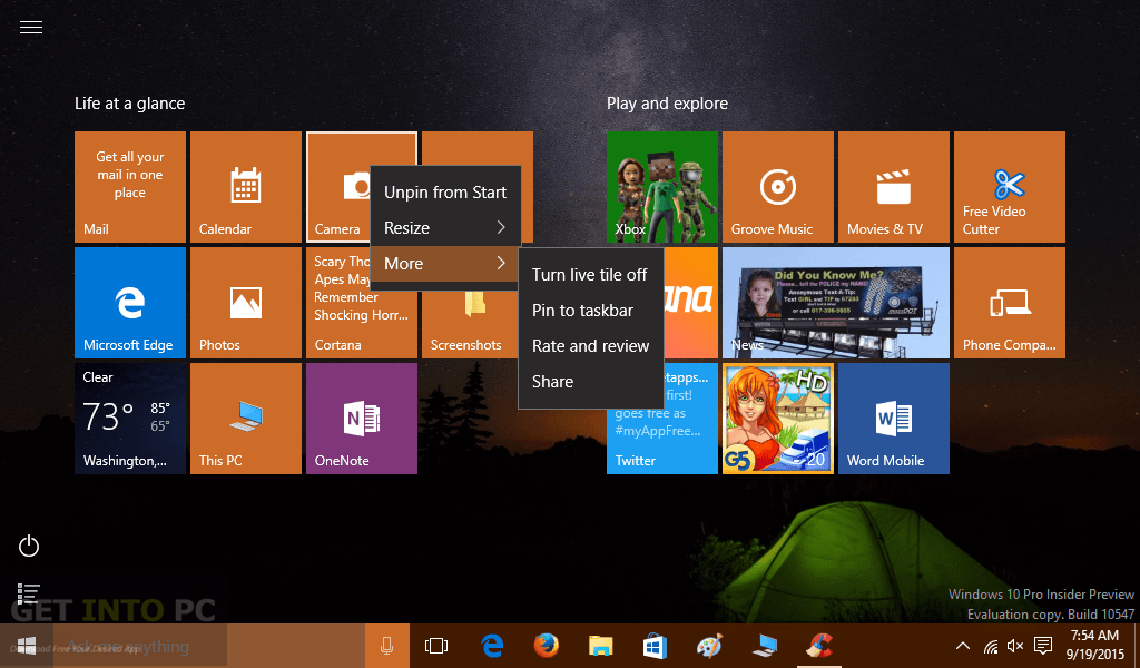 Windows 10 Home Build 10547 Direct Link Download