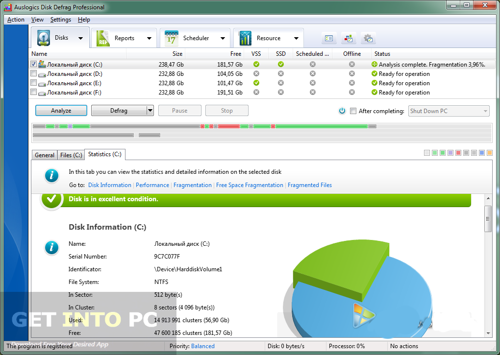 auslogics disk defrag pro download