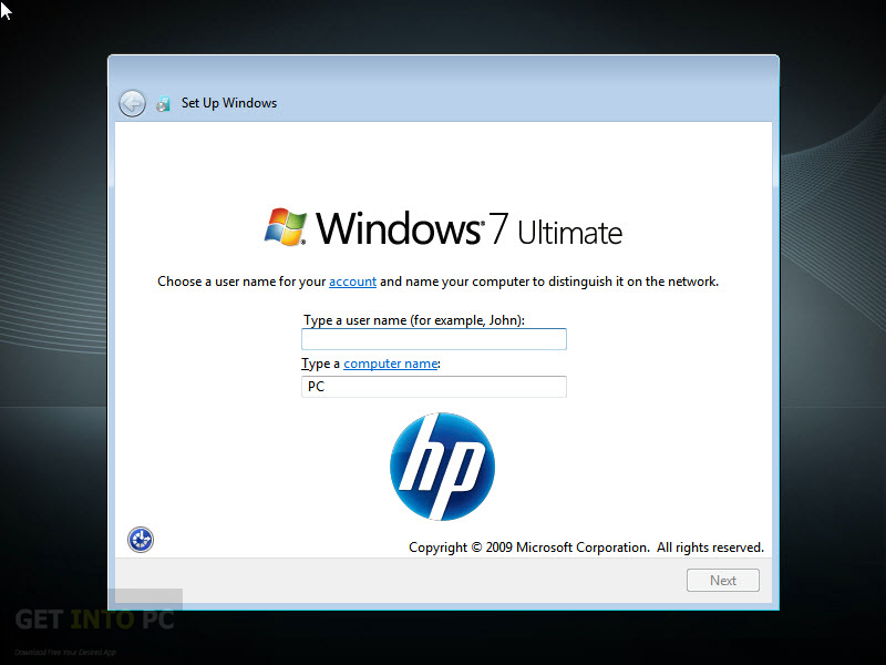 HP Compaq Windows 7 Ultimate x64 OEM ISO Offline Installer Download
