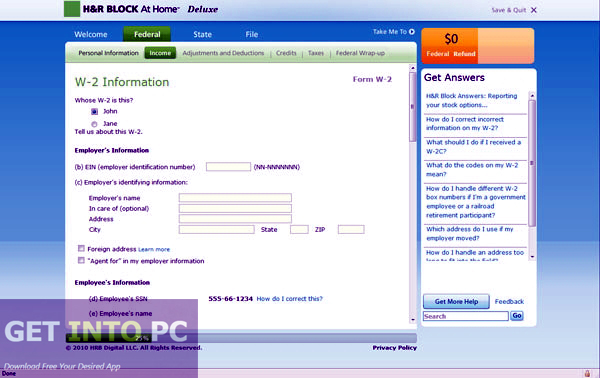 HRBlock Deluxe Efile State 2014 ISO CD Latest Version Download