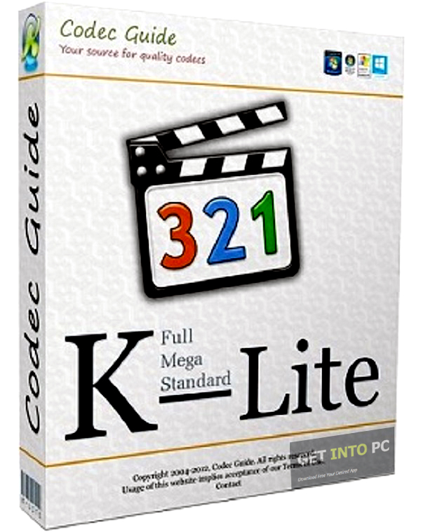 K-Lite Codec Pack Mega 15.1.6 free download K-Lite Codec Pack Mega Download K-Lite Codec Pack is a collection of components needed for audio and video playback in DirectShow players such as Windows Media Player, Media Center, and Media Player Classic..