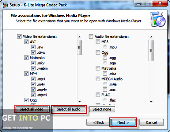 K Lite Codec Pack 2015 Mega Full Basic Standard Offline Installer Download