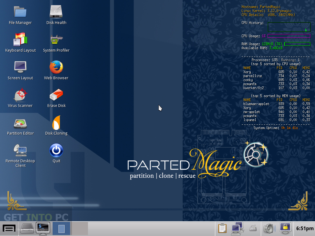 Parted Magic 2015 Live Boot CD ISO Offline Installer Download
