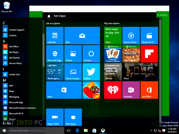 Windows 10 Pro and Home 10558 64 Bit ISO Latest Version Download