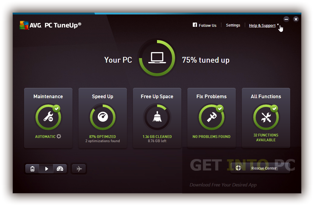 AVG PC TuneUp 2016 64 Bit Latest Version Download