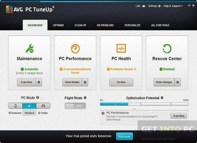 AVG PC TuneUp 2016 64 Bit Offline Installer Download