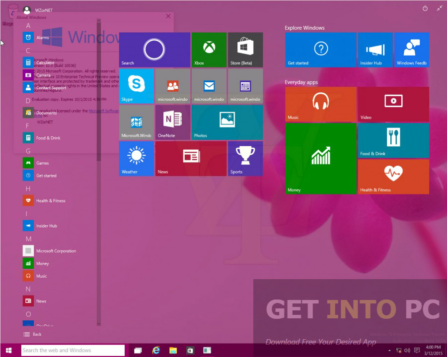 Windows 10 Enterprise Build 10586 64 Bit ISO Latest Version Download
