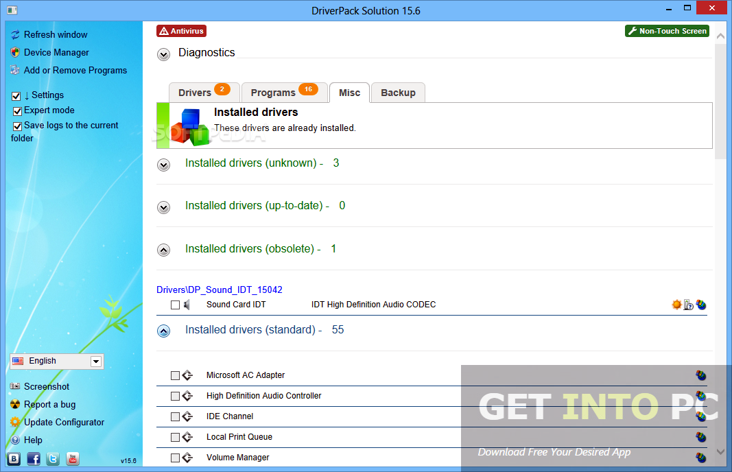 DriverPack Solution 15.12 Offline Installer Download