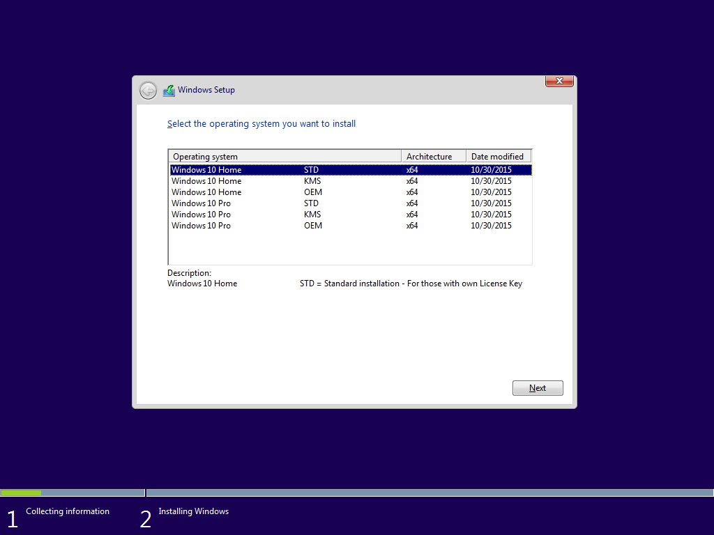 Windows 10 64 bit 6in1 editions