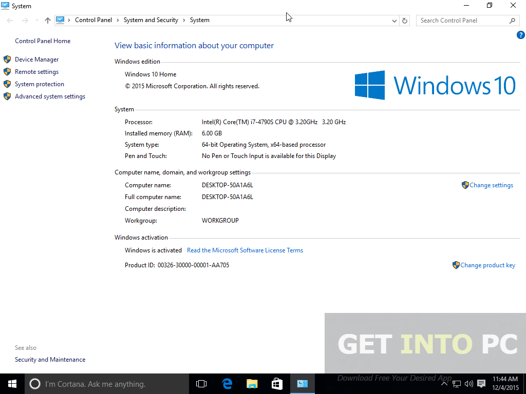 New game software and apps windows 10 pro core x64 6 in for Window 10 pro