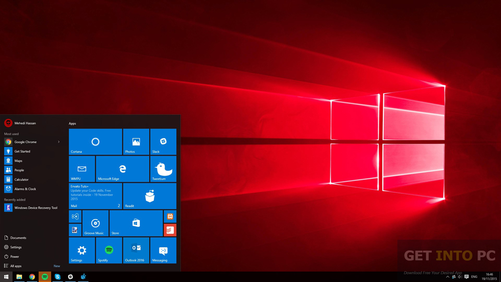 Windows 10 Pro Redstone Build 11082 x64 ISO Direct Link Download