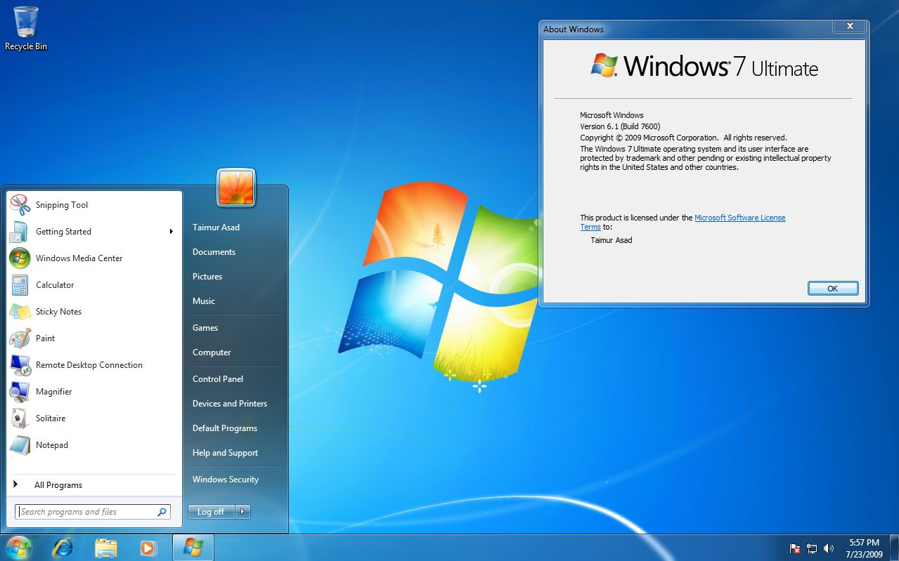 Windows 7 ultimate download iso 32 bit 64 bit official free for Window 7 ultimate