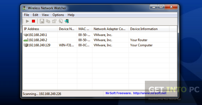 Wireless Network Watcher 1.91 Offline Installer Download