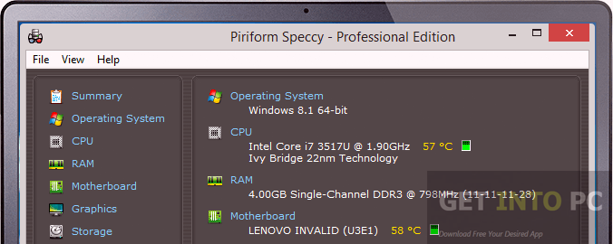 Piriform Speccy Professional and Technician Portable Offline Installer Download