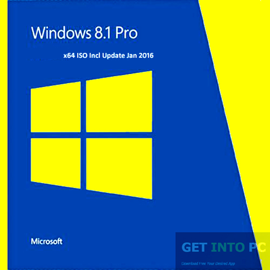 Windows 8.1 Professional x64 ISO Incl Update Jan 2016 Download