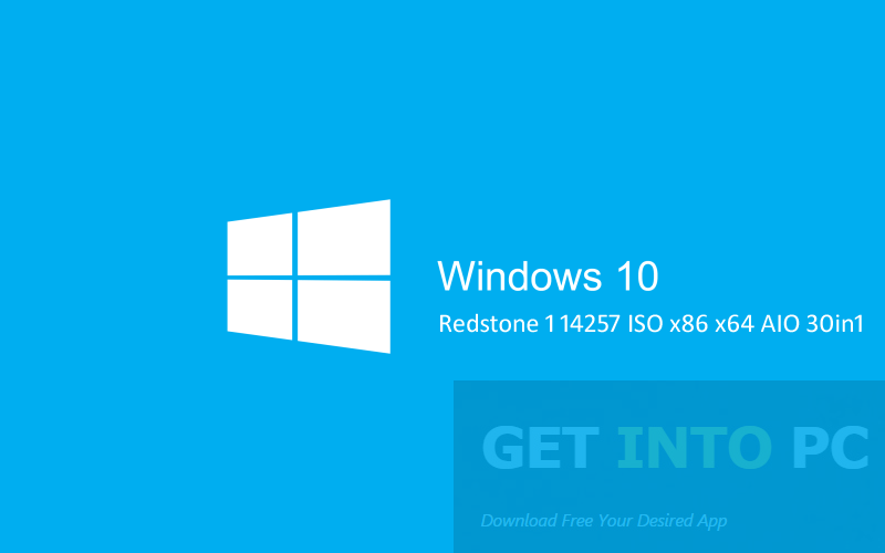 Windows 10 Redstone 1 14257 ISO AIO 30in1 Free Download