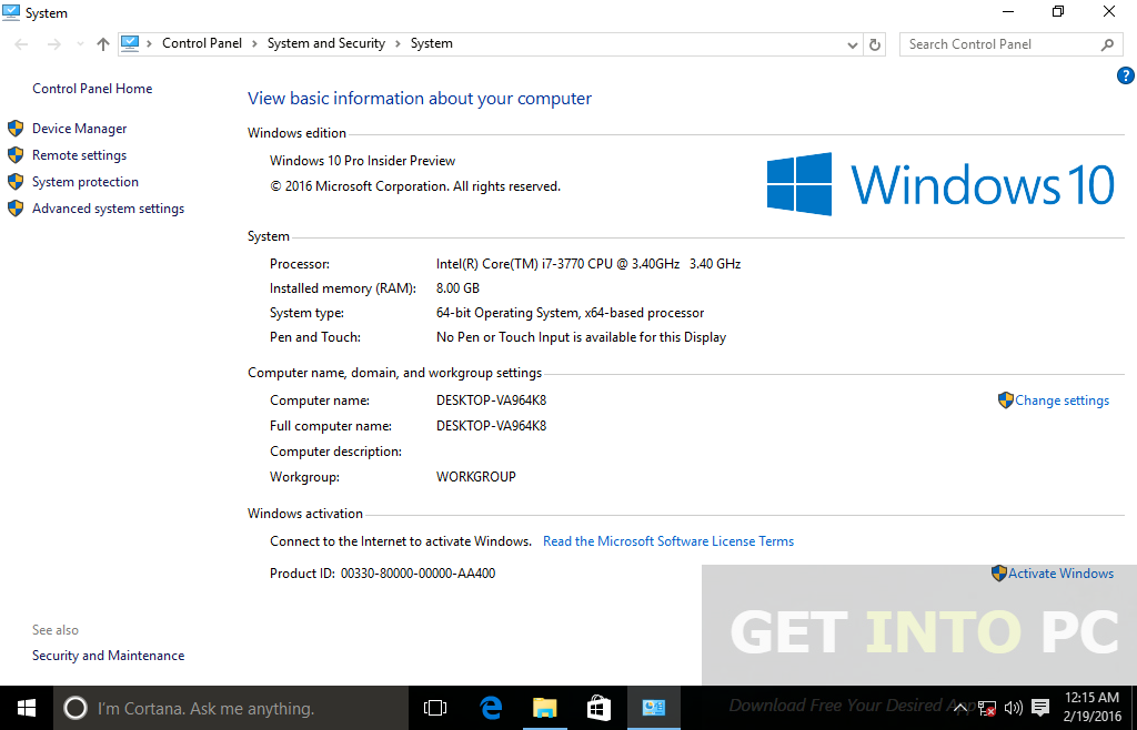 Windows 10 Redstone 14267 Pro ISO Latest Version Download